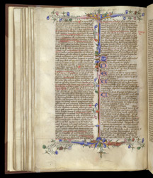 Illuminated Border, In William of Nottingham's Commentary On The Harmony Of The Gospels